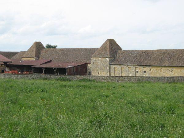 Vestige de la cours des tours du château de Buhy